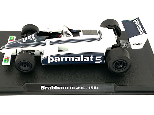 1:43 scale Atlas Editions Brabham BT49C F1 Car Nelson Piquet 1981 Diecast Model