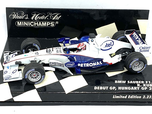 1:43 scale Minichamps BMW Sauber F1 06 F1 Car - R Kubica 1st GP Hungary 2006