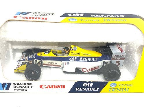 1:43 scale Onyx Williams FW12C F1 Car - Thierry Boutsen 1989 F1 Diecast Model
