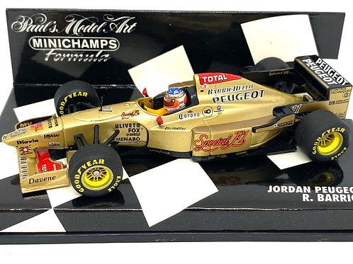 1:43 scale Minichamps Jordan Peugeot 196 F1 Car - R Barrichello 1996 Model Car