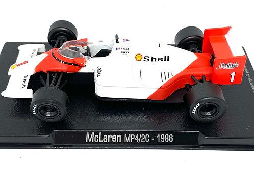 1:43 Scale McLaren MP4/2C F1 Diecast Model - Alain Prost 1986 Model F1 Race Car