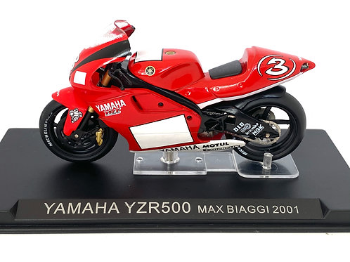 1:24 scale Altaya / De Agostini Yamaha YZR 500 GP Bike - Max Biaggi 2001 Model