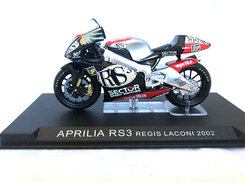 1:24 scale Altaya Aprilia RS3 Moto GP Bike - Regis Laconi 2002 Replica Model