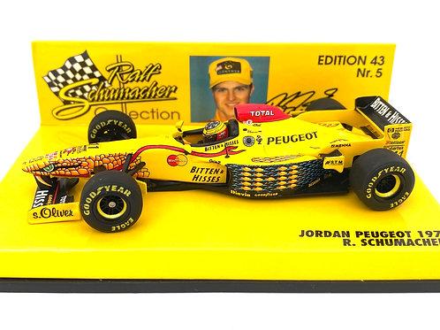 1:43 scale Minichamps Jordan 197 F1 Car - Ralf Schumacher 1997 Diecast Model