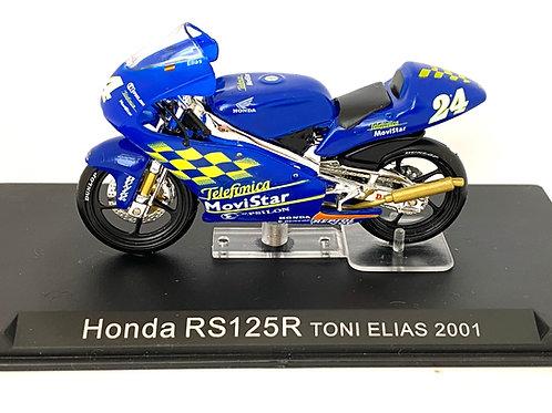 1:24 scale De Agostini / Altaya Honda RS125R GP Bike - Toni Elias 2001 Model