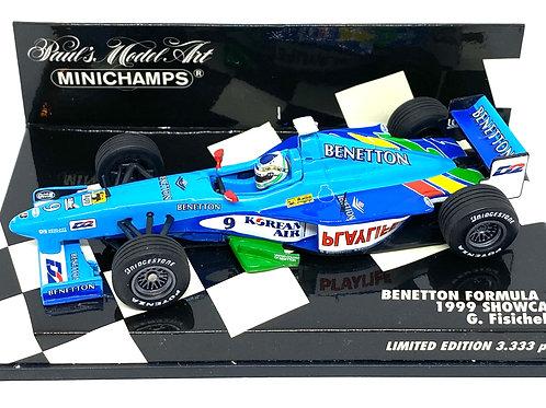 Ltd Ed 1:43 scale Minichamps Benetton F1 Showcar Model Car - G Fisichella 1999