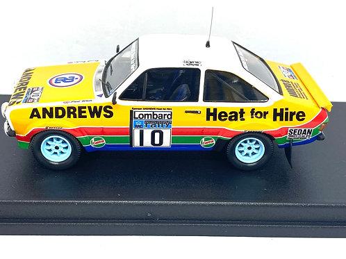 1:43 scale Trofeu Ford Escort Mk2 Rally Car, Russel Brookes 1979 RAC Rally Model