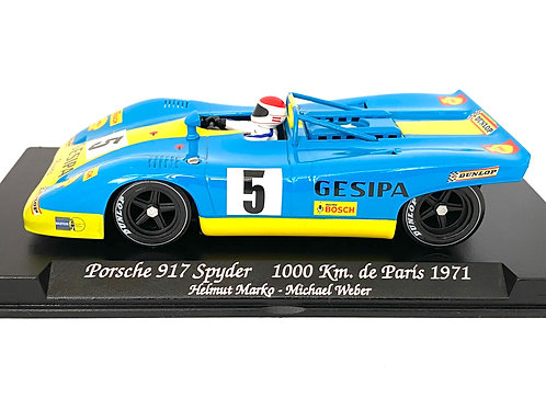 1:32 scale Fly Slot Car Porsche 917 Spyder Endurance Race Car - H Marko 1971