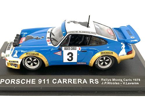 1:43 Scale Altaya De Agostini Porsche 911 Carrera RS Rally Car J P Nicolas 1978