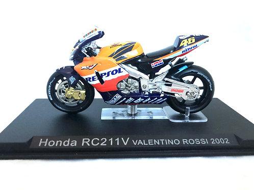 1:24 scale Altaya Honda RC211V Moto GP Bike - Valentino Rossi 2002 Replica Model