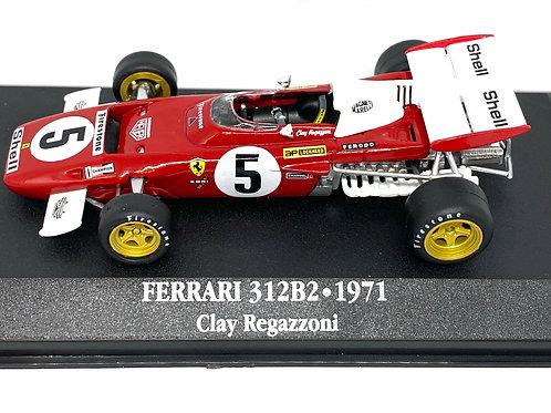 1:43 scale Atlas Editions Ferrari 312B2 F1 Car - C Regazzoni 1971 Die cast Model