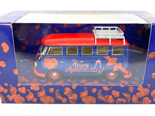 1/43 scale Corgi Happy Anniversary VW Campervan Model, Anniversary Present Ideas