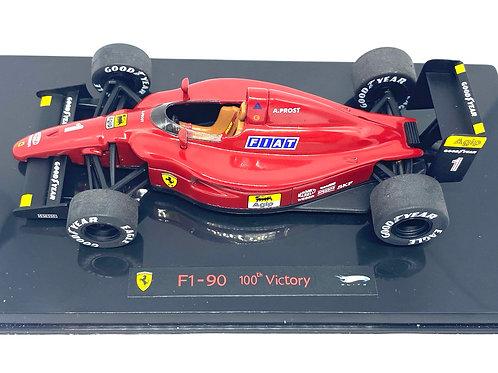 Ltd Ed 1:43 scale Hotwheels Elite Ferrari F1 90 F1 Car A Prost Ferrari 100 Wins