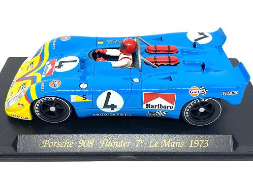 1:32 scale Fly Slot Car Porsche 908 Flunder G Ortega & F Merello Le Mans 1973