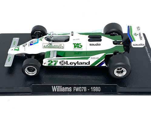 1:43 Scale Williams FW07B F1 Diecast Model - Alan Jones 1980 Model F1 Race Car