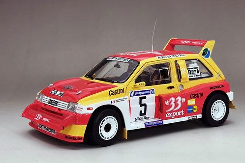 1:18 scale Sun Star MG Metro 6R4 Rally Car - Didier Auriol 1985 Diecast Model