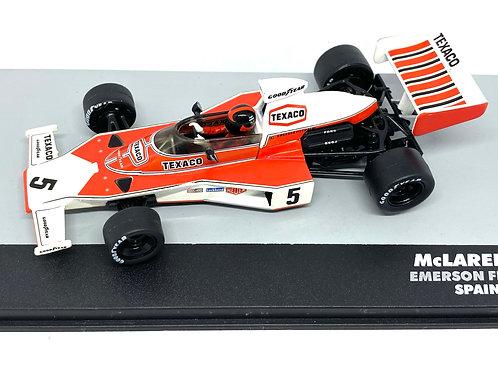 1:43 Scale McLaren M23 F1 Diecast Model - Emerson Fittipaldi 1974 Grand Prix Car
