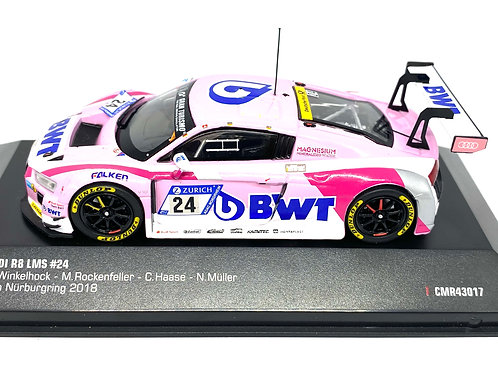 1:43 scale IXO Audi R8 LMS Diecast Model Car as raced at the Nurburgring 2018