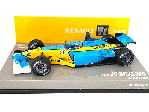 Ltd Edition 1:43 scale Minichamps Renault 2002 F1 Launch Car - J Button 2002
