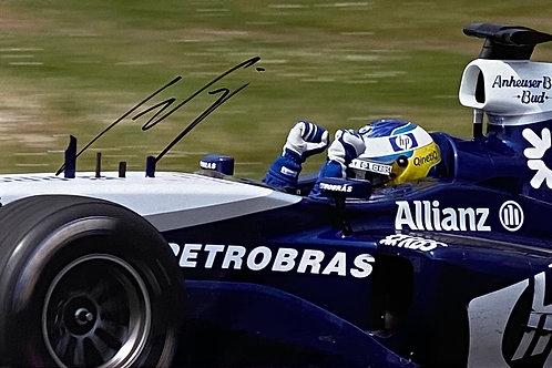 Hand Signed 12 inch x 8 inch (A4) Nick Heidfeld Williams F1 Team Photo with COA