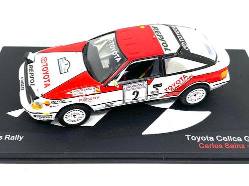1:43 Scale Altaya Toyota Celica GT4 Rally Car Carlos Sainz Acropolis Rally 1990