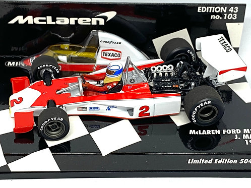 Limited Edition of 504, 1:43 scale Minichamps McLaren M23 F1 Car - J Mass 1975