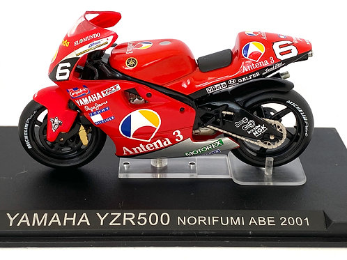 1:24 scale Altaya / De Agostini Yamaha YZR 500 GP Bike - Norick Abe 2001 Model