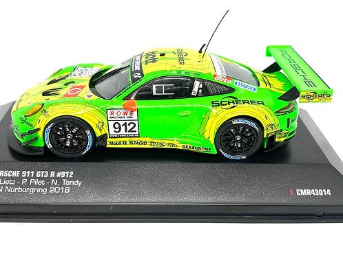 1:43 scale IXO Porsche 911 GT3 R, Lietz, Pilet & Tandy Nurburgring 2018 Model