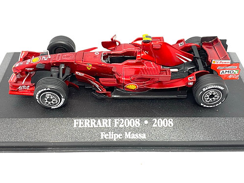 1:43 scale Atlas Editions Ferrari F2008 F1 Car Felipe Massa 2008 Die cast Model