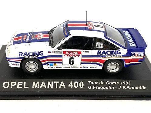1:43 Scale Altaya De Agostini Opel Manta 400 Rally Car - G Frequelin 1983