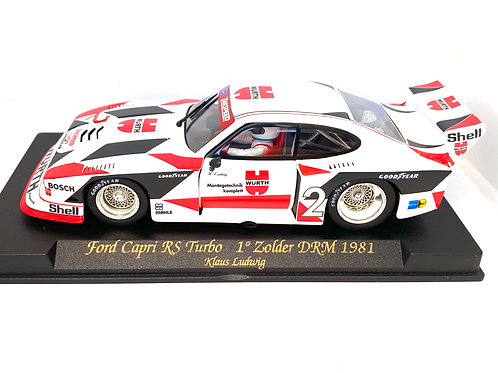 1:32 scale Fly Slot Car Ford Capri RS Turbo DRM Group 5 Model - K Ludwig 1981