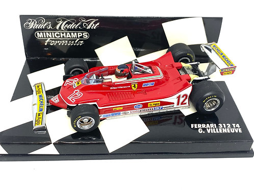 1:43 scale Minichamps Ferrari 312 T4 Formula 1 Car - Giles Villeneuve 1979 Model