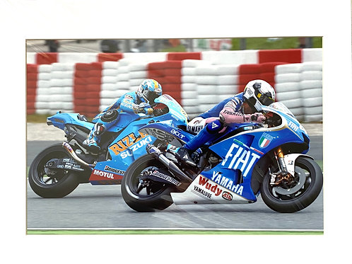 Large 12 inch x 8 inch (A4) Valentino Rossi Moto GP Photo in a 14 x 11 Mount