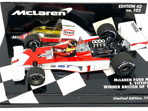 Ltd Ed 1:43 scale Minichamps McLaren M23 F1 Car - E Fittipaldi British GP 1975