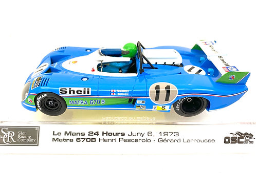 Limited Edition 1:32 scale SRC Matra 670B Slot Car - H Pescarolo Le Mans 1973