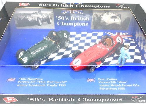 1:43 scale Brumm 50's British Champions Gift Set 1 - Hawthorn & Collins Box Set