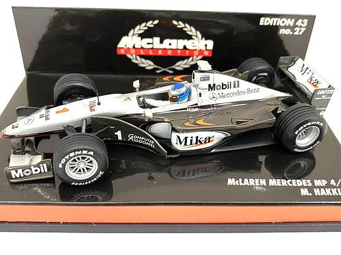 1:43 scale Minichamps McLaren Mercedes MP4/14 F1 Car - Mika Hakkinen 1999 Car