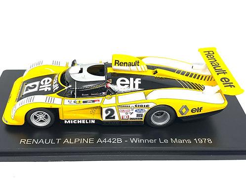 1:43 scale Spark Renault Alpine A442B Le Mans Winning Sports Car D Pironi 1978