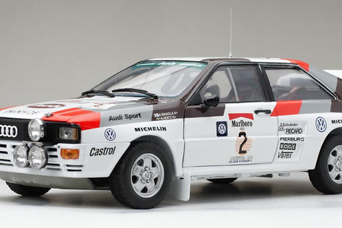 Limited Edition 1:18 scale Sun Star Audi Quattro A2 Rally Car - H Mikkola 1983