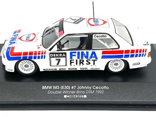 1:43 scale CMR BMW M3 DTM Touring Car Johnny Cecotto 1992 Diecast Model DTM Car