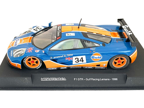 1:32 scale Mr Slot Car Gulf McLaren F1 GTR Sports Car- Le Mans 1996 Boxed Model