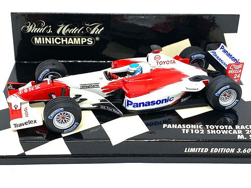 Limited Edition 1:43 scale Minichamps Toyota TF102 F1 Showcar - Mika Salo 2002
