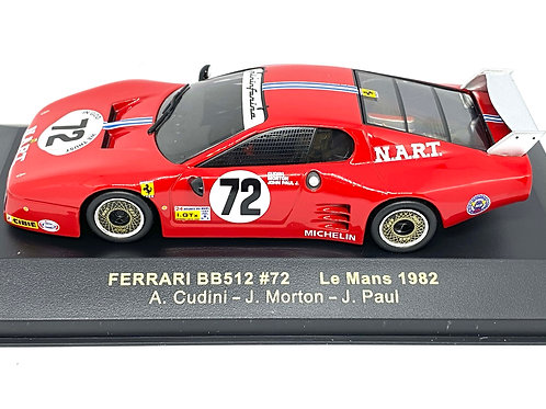 1:43 scale IXO Ferrari BB512 Sports Car - Cudini, Morton & Paul Le Mans 1982 Car