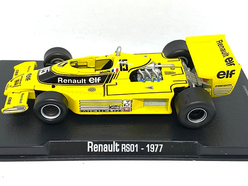 1:43 Scale Renault RS01 F1 Diecast Model - J P Jabouille 1977 Model F1 Race Car