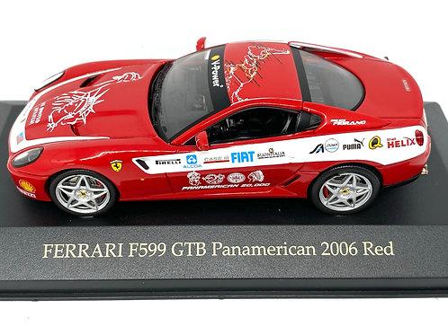 1:43 scale IXO Ferrari F599 GTN Panamerican Diecast Model Sports Car
