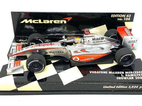 1:43 scale Minichamps McLaren Mercedes 2009 F1 Showcar - Lewis Hamilton Model