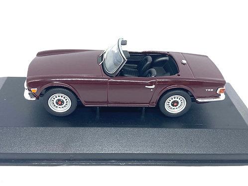 Ltd Ed 1:43 scale Corgi Vanguards Triumph TR6 Damson Classic Car Diecast Model