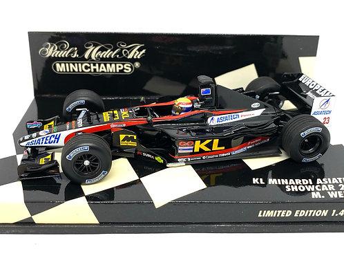 Ltd Edition 1:43 scale Minichamps Minardi 2002 F1 Showcar - Mark Webber Model