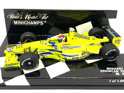 Ltd Edition 1:43 scale Minichamps Minardi 2000 F1 Showcar - Mark Gene Model Car