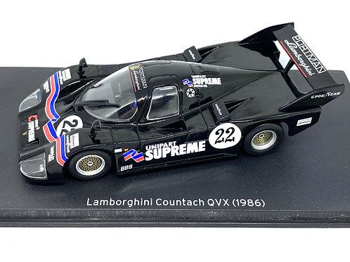 1:43 scale Altaya Lamborghini Countach QVX Sports Car, 1986 GT Race Car Model